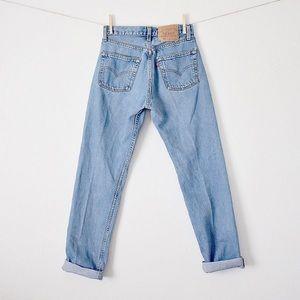 Vintage 90s Levi's 501 High Waist Blue Jeans